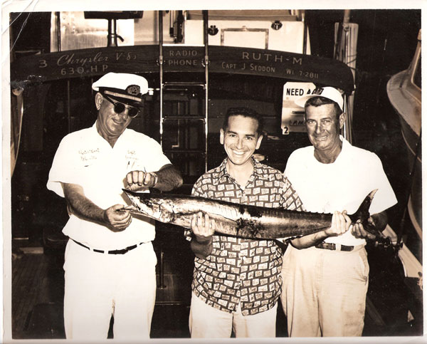 Old photo of a fishing catch at Pier 5, Miami.